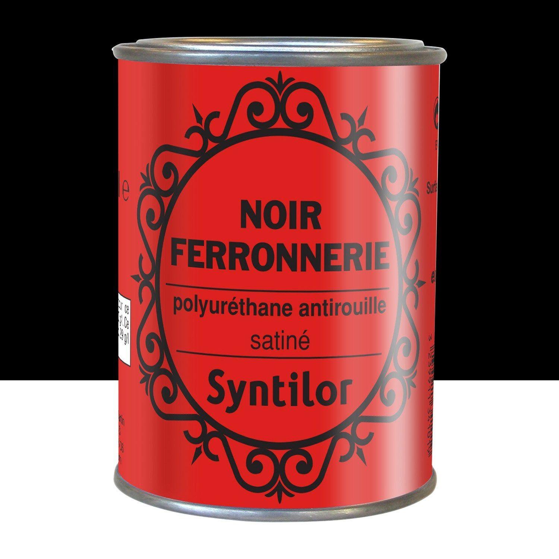 Peinture Ferronnerie Extérieur Syntilor Noir 025 L En