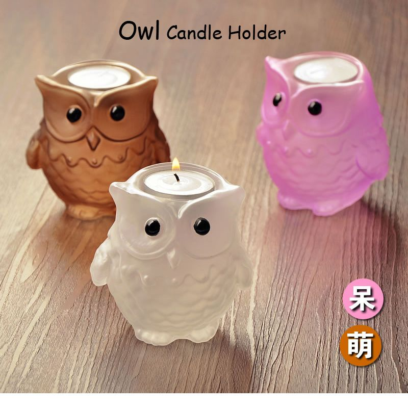 Creative European Owl Style Glass Candlestick WeddingTable Candle Holder Candlelight Dinner Home Decoration 4 Colors New Arrive -- You can get more details at http://s.click.aliexpress.com/e/A2NRv7M7Y&fg=230816004224