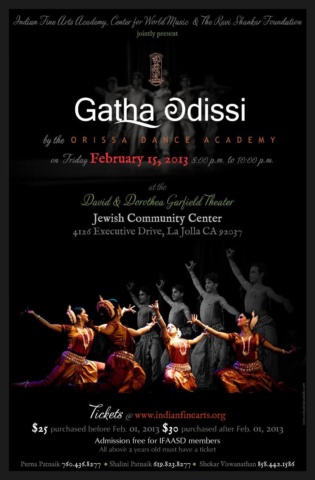 Odissi Dance Performance Poster by Ōviya Design Studio