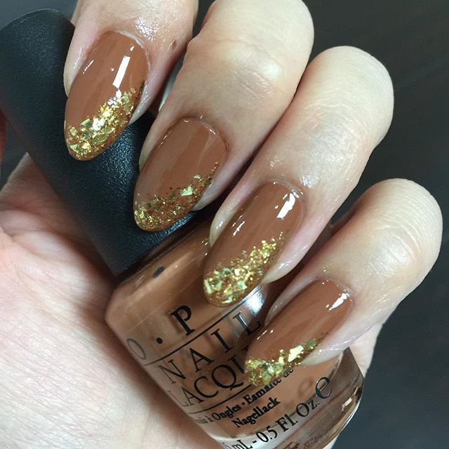 We\'re itching to try these nail art designs inspired by fall! | Gold ...