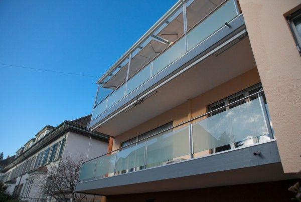 Terassenüberdachungen und Glasgeländer, Basel