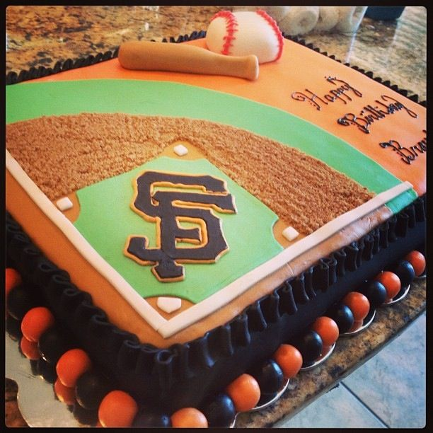 San Francisco Giants themed birthday cake custom made | Amazing ...