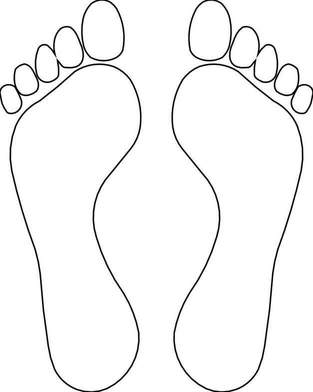Feet Outline Template Clipart Library Templates Printable Free Clip Art Library Bible Crafts For Kids