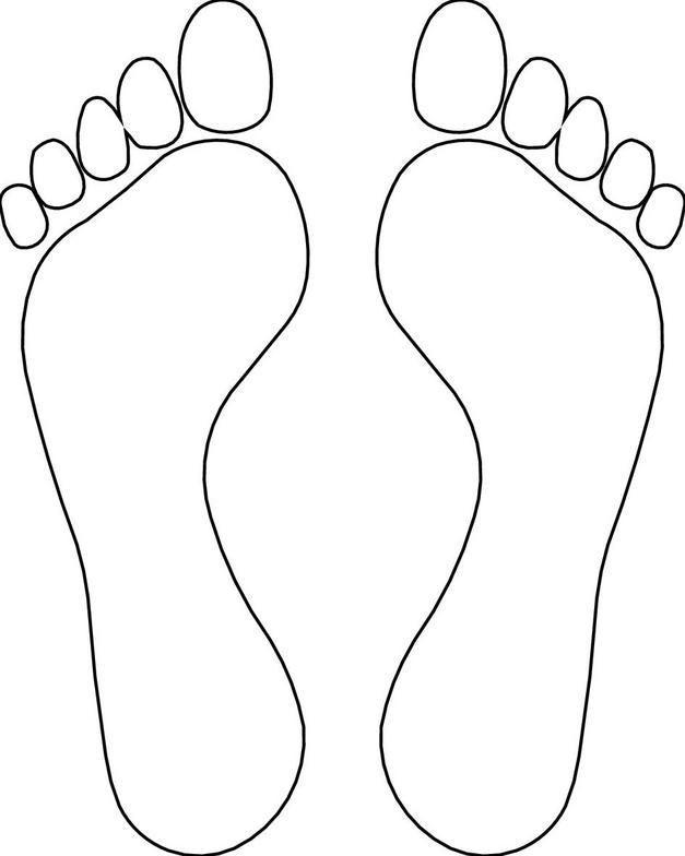Feet Outline Template Clipart Library Molde De Pe Riscos Para