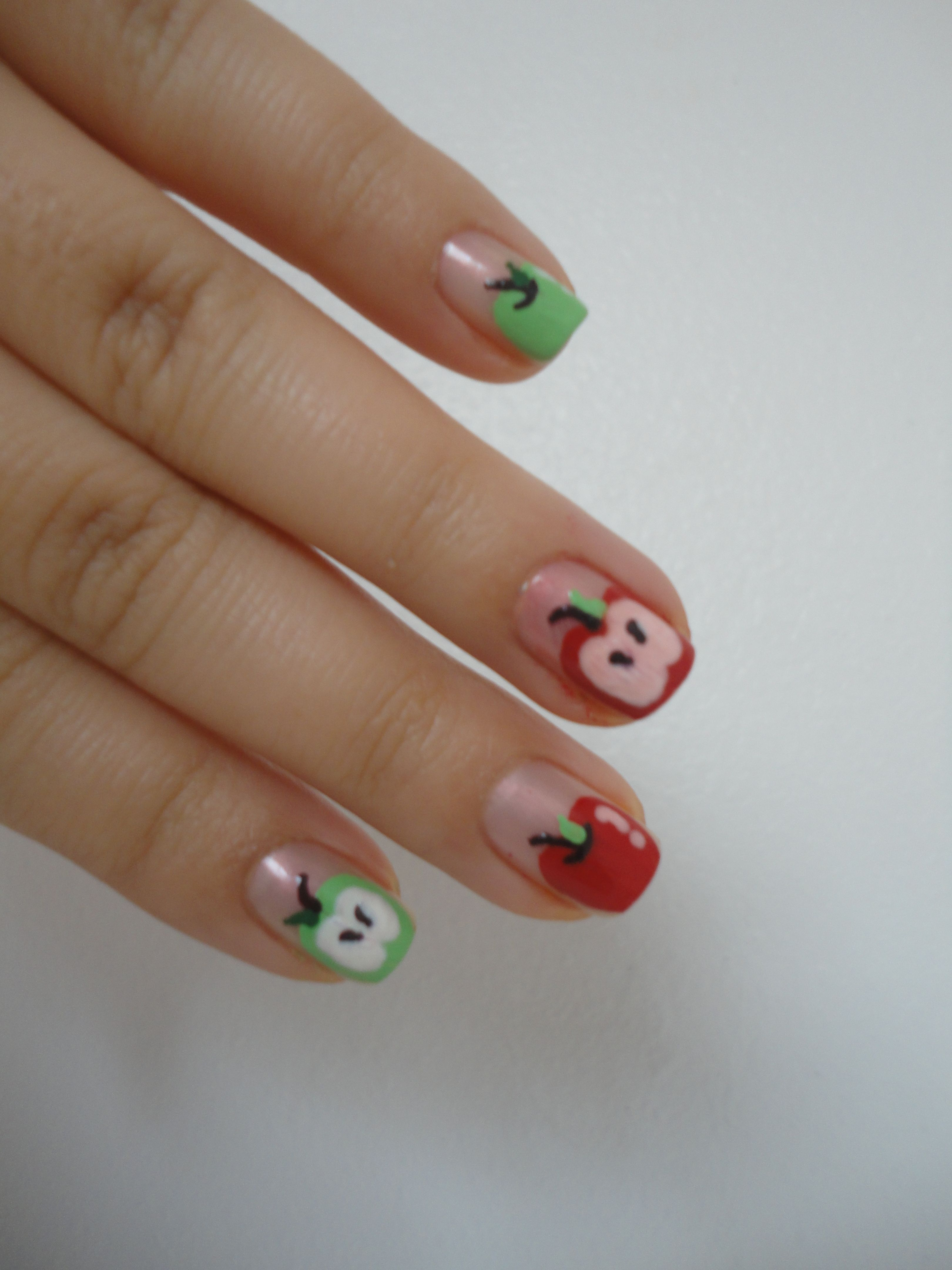 apple nails inspired by bubzbeauty fruits nail