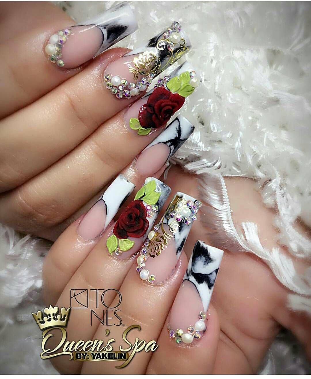 Confluence of nail art techniques is brilliantly showcased by ...