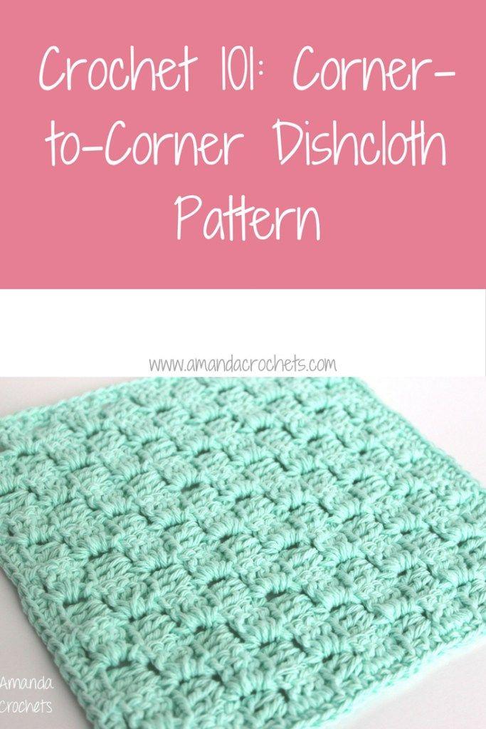 Corner To Corner Dishcloth Pattern Crochet Kitchen Items Crochet