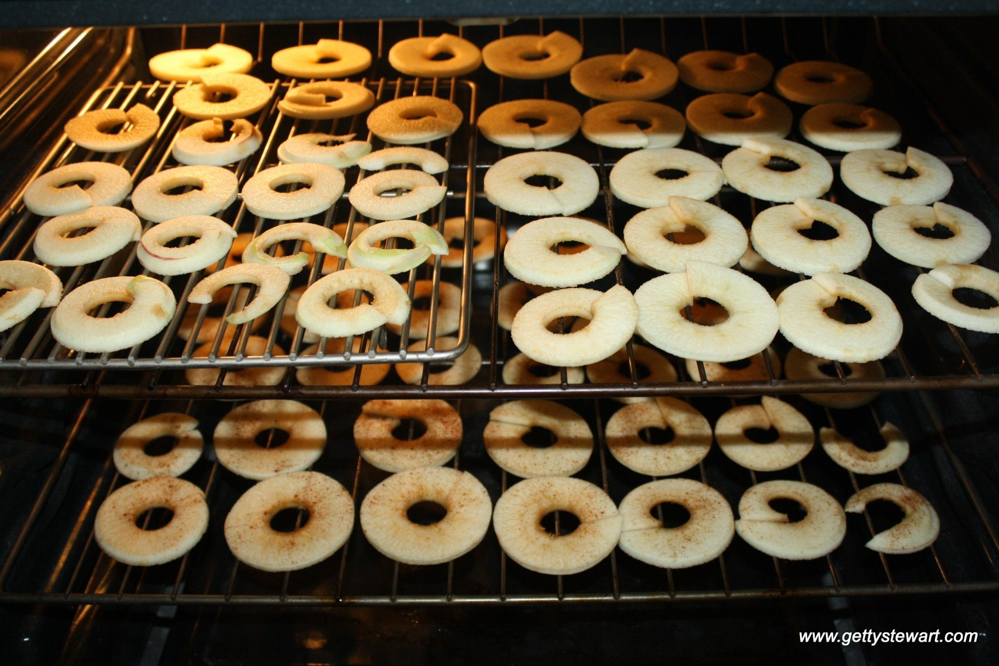 dehydrating apples in the oven Dried apple rings