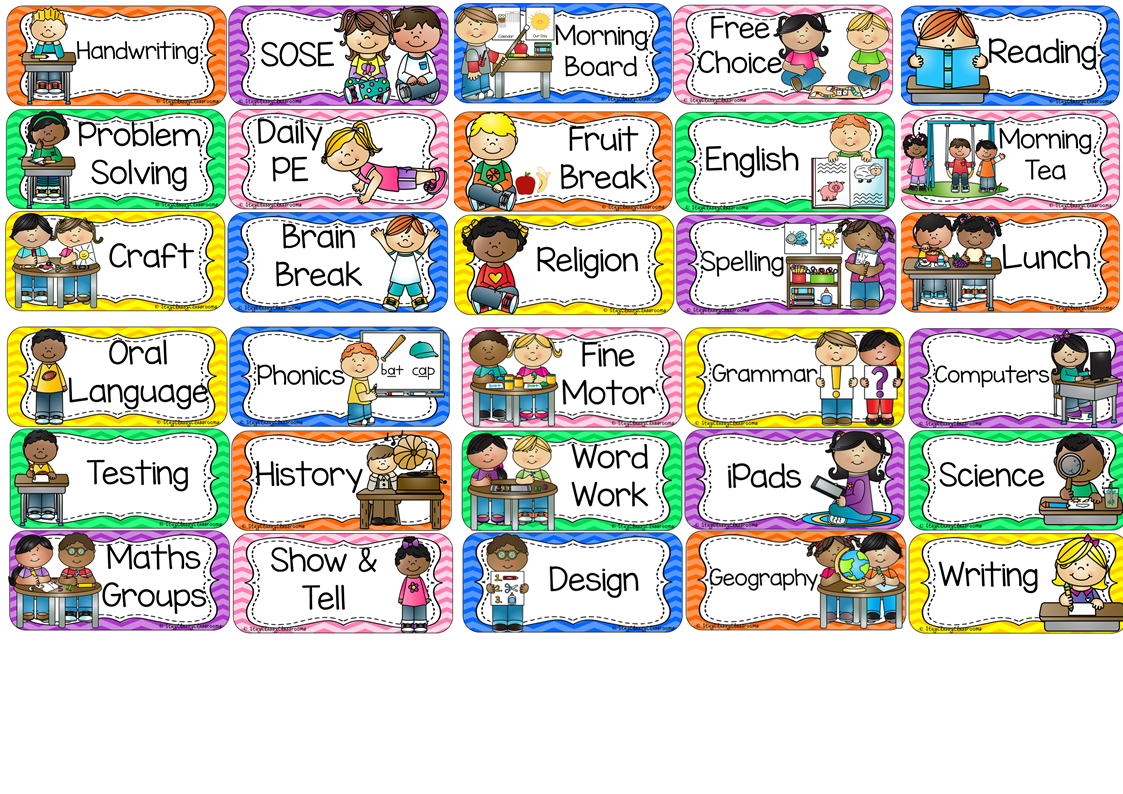 Daily Calendar Clipart : Awesome classroom daily schedule clipart homeschool