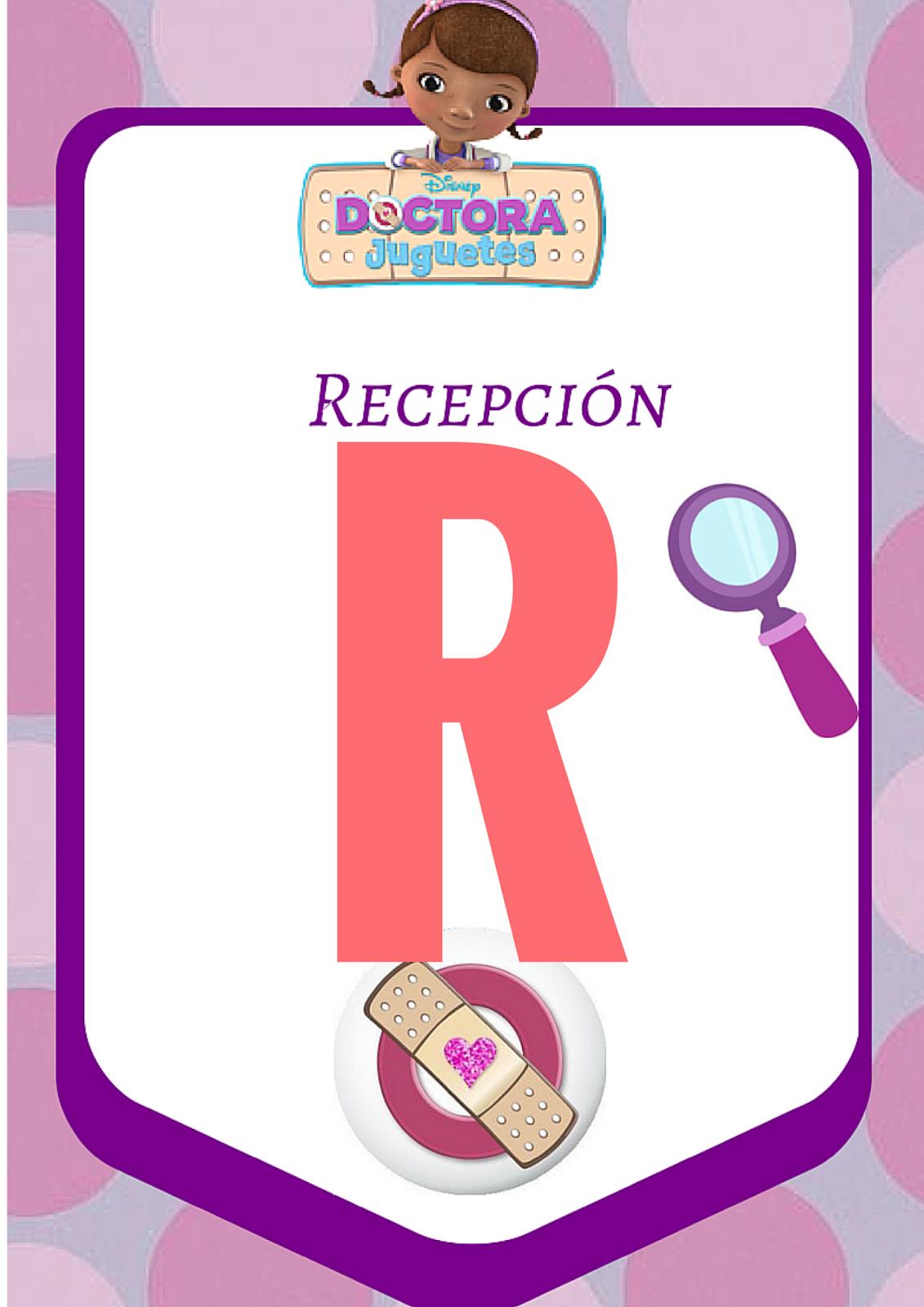 Letreros y Gafete para fiesta de Doctora Juguetes