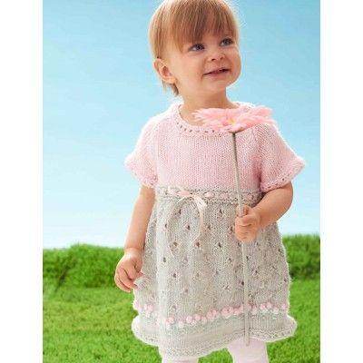 Free Intermediate Baby Dress Knit Pattern Free Knit Baby Patterns