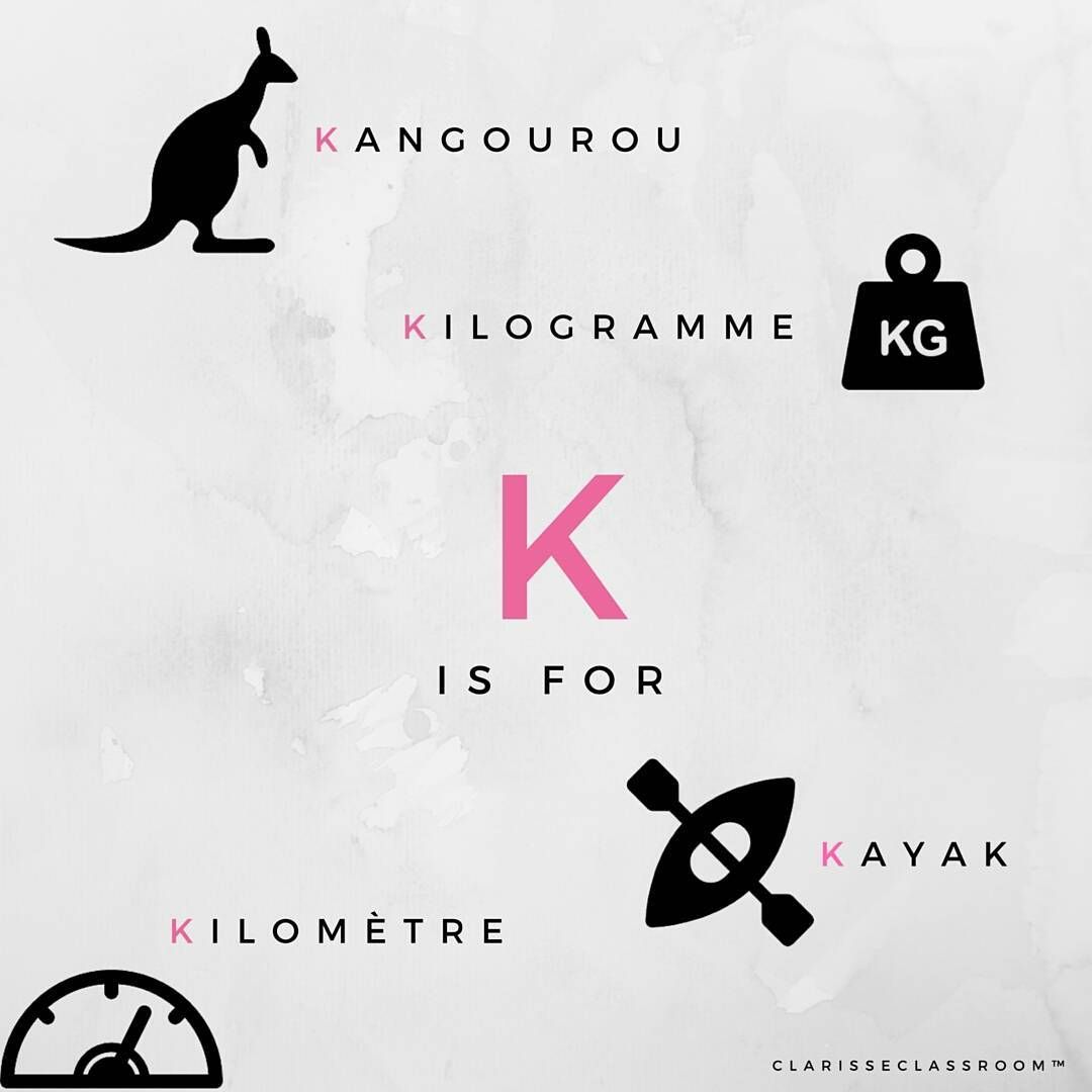 Learning French Alphabet Letter K Play With Us Find French