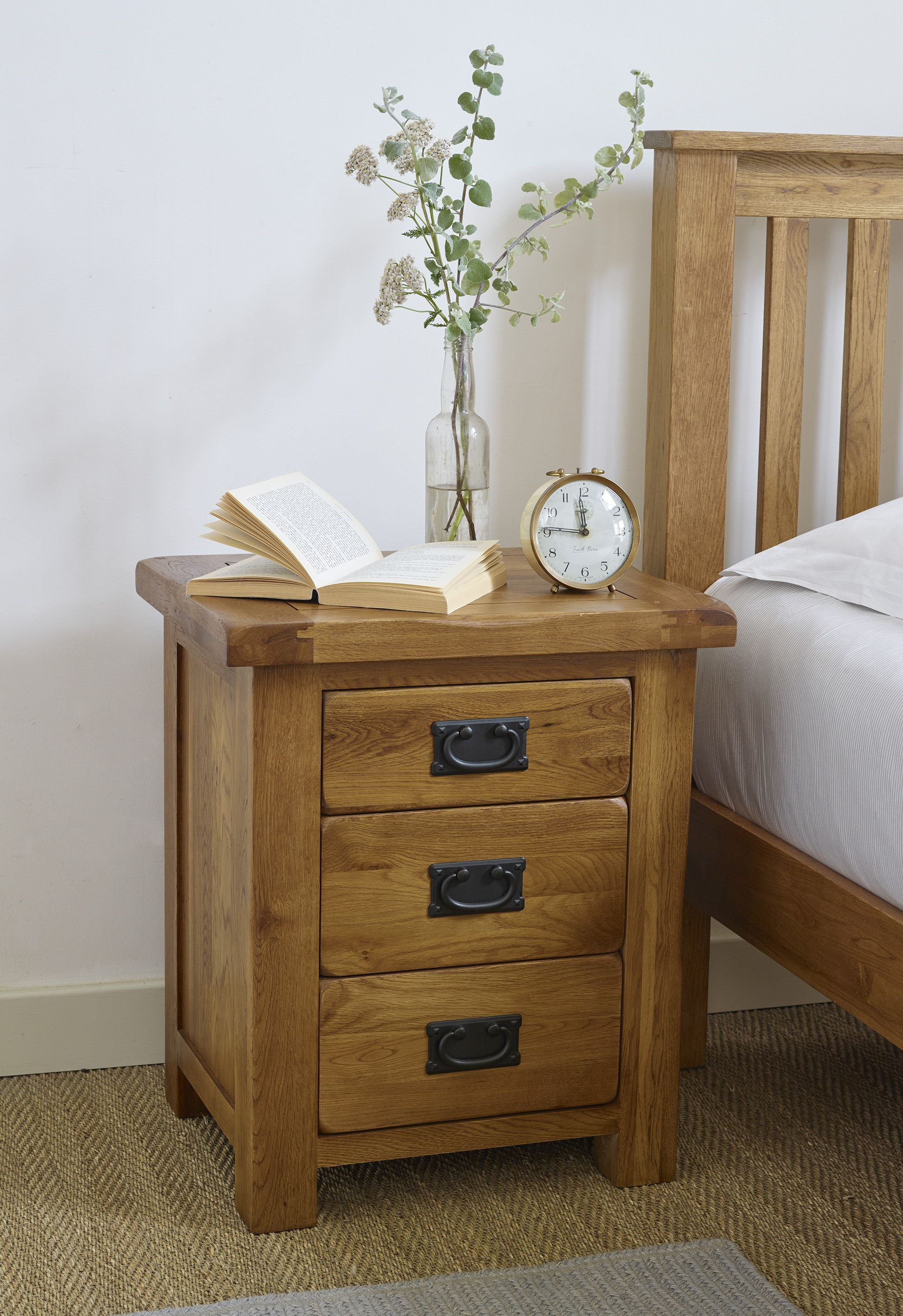 The Original Rustic Solid Oak Nightstand Is Both An Essential Bedroom Item  And A Beautifully Crafted Piece Of Classic Oak Furniture.