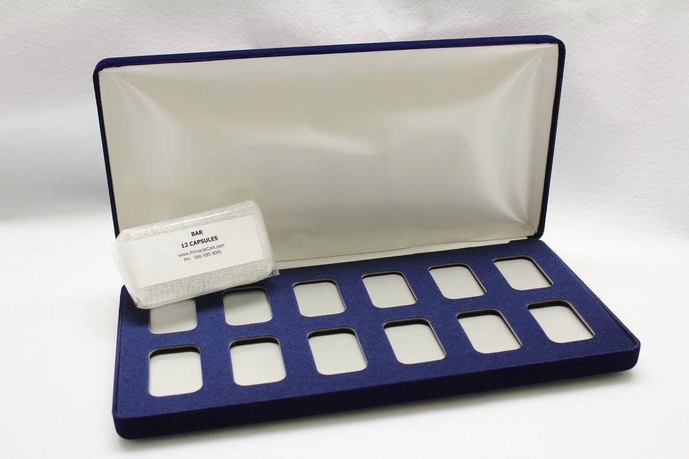 Velvet Display Box For 12 Silver 1 Oz Bars With Qty 12 Airtite Holder Capsules Airtiteholder Questions 586 585 9091 Display Boxes Capsule Silver