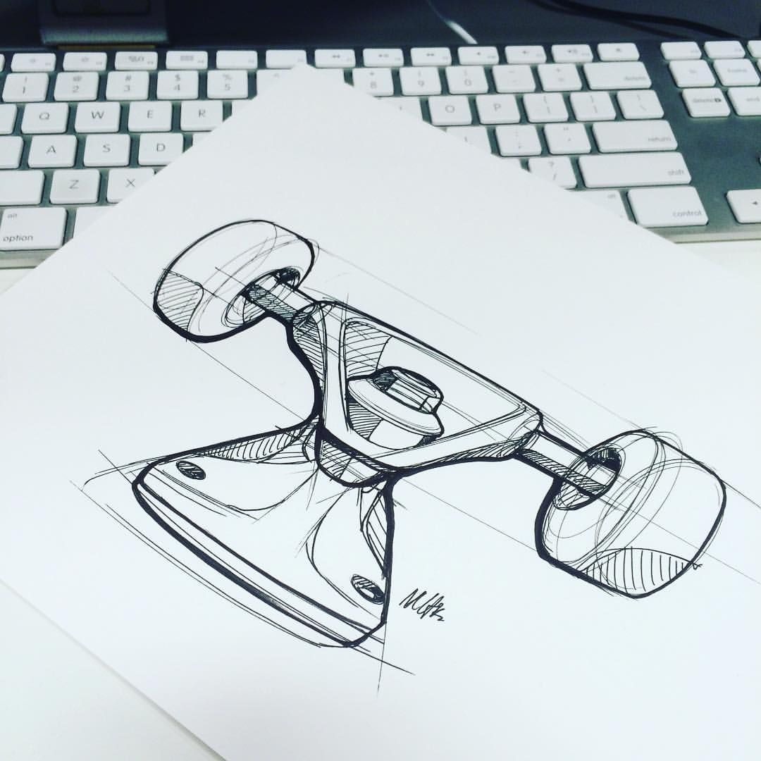 One point perspective doodle #industrialdesign #id #design #skate #art #draw #sketch