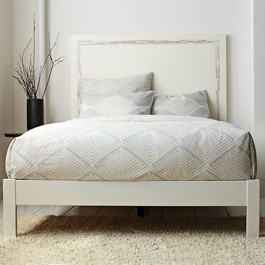 Simple Bed Frame White West Elm 279 New Apartment Simple