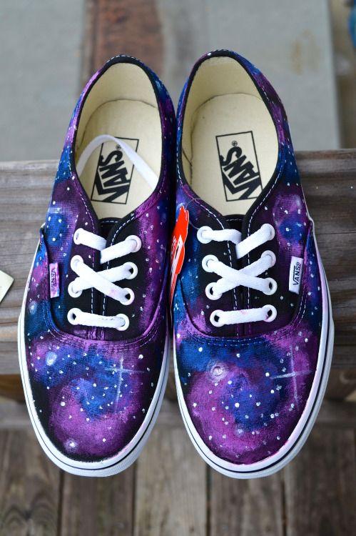 galaxy vans \u003c3 | Galaxy shoes, Kawaii