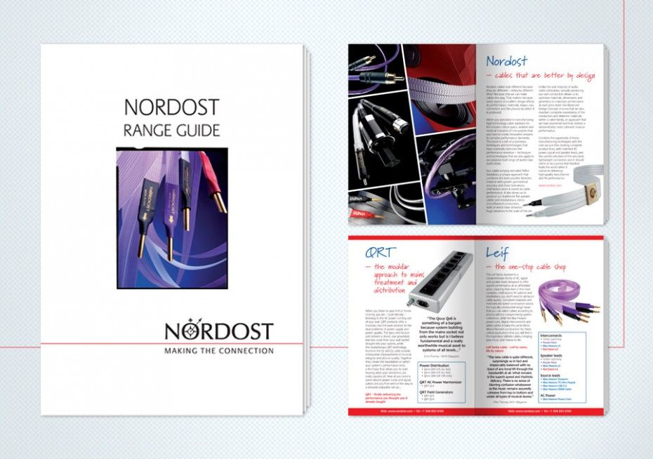 Fonthill Creative worked closely with Nordost to produce creative and engaging marketing literature.