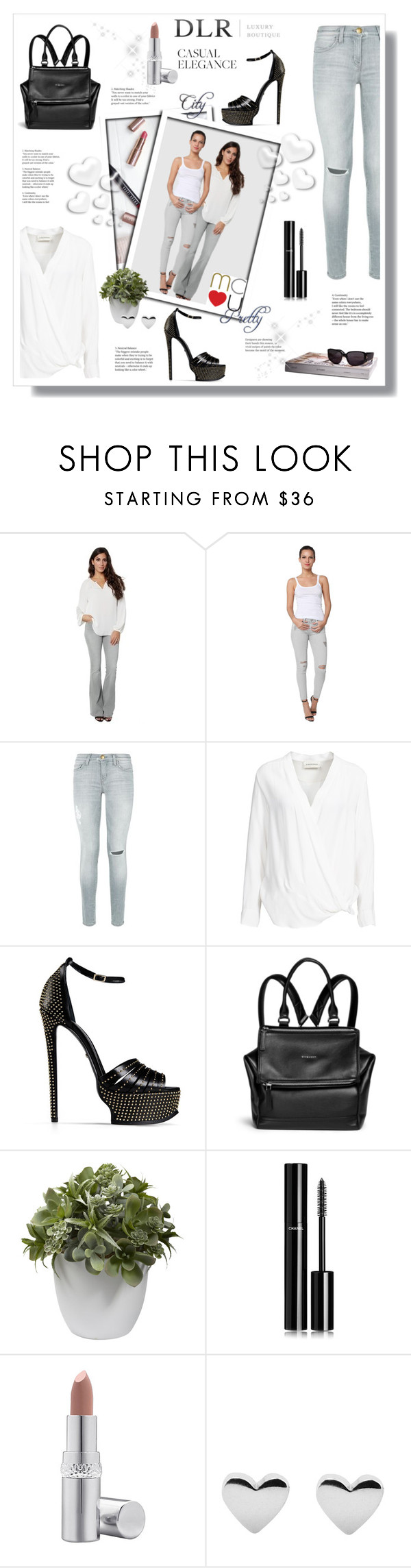 """""""dlr"""" by stranjakivana ❤ liked on Polyvore featuring Diane Von Furstenberg, AG Adriano Goldschmied, Current/Elliott, By Malene Birger, Roberto Cavalli, Givenchy, Nearly Natural, Chanel, La Prairie and Valentino"""