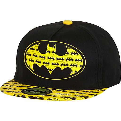 Boys black Batman snapback hat - hats / gloves - accessories - boys