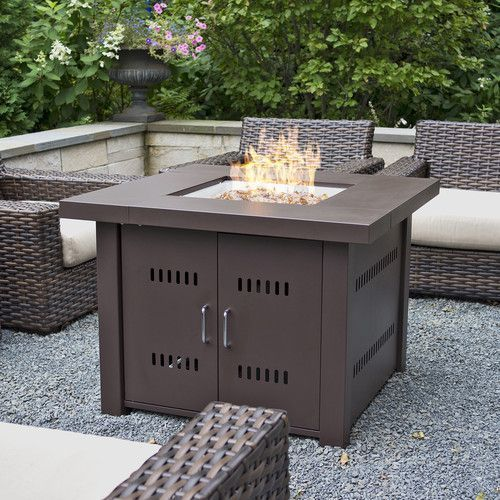 NEW Outdoor Natural Gas Fire Pit Table For Backyard Patio Fireplace - Patio fire pit table natural gas