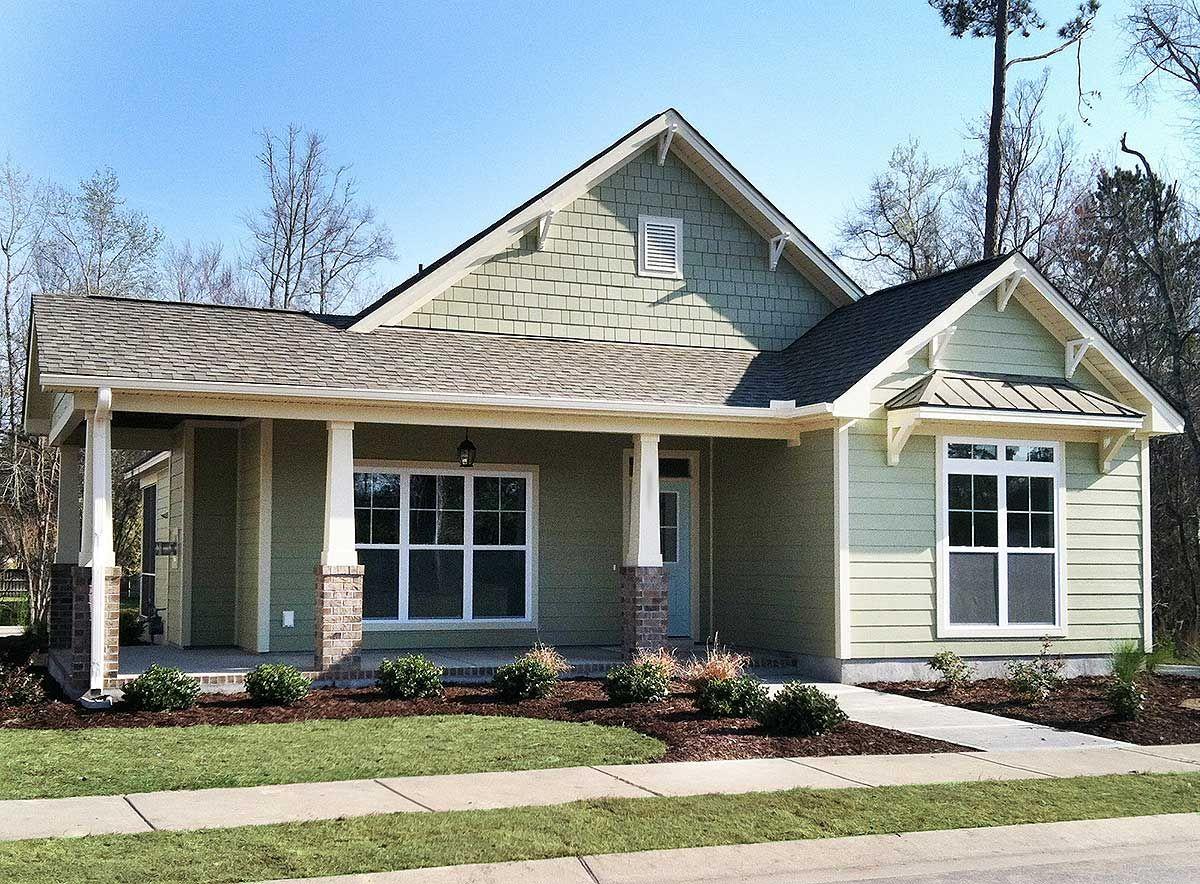 Superb Plan 15068NC: 3 Bed Cottage With Bonus And Alley Garage 1487 Sq Ft