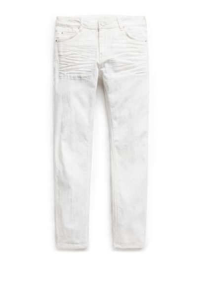 H.E. by MANGO witte alex slim-fit jeans #HoliFestivalofColours #wit #white
