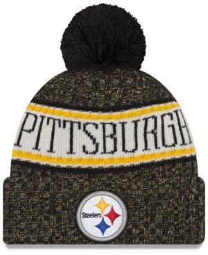 32a41cc3125 New Era Pittsburgh Steelers Sport Knit Hat - Black Adjustable
