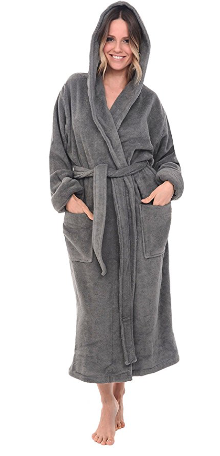 Alexander Del Rossa Womens Turkish Terry Cloth Robe d2f49ccc9