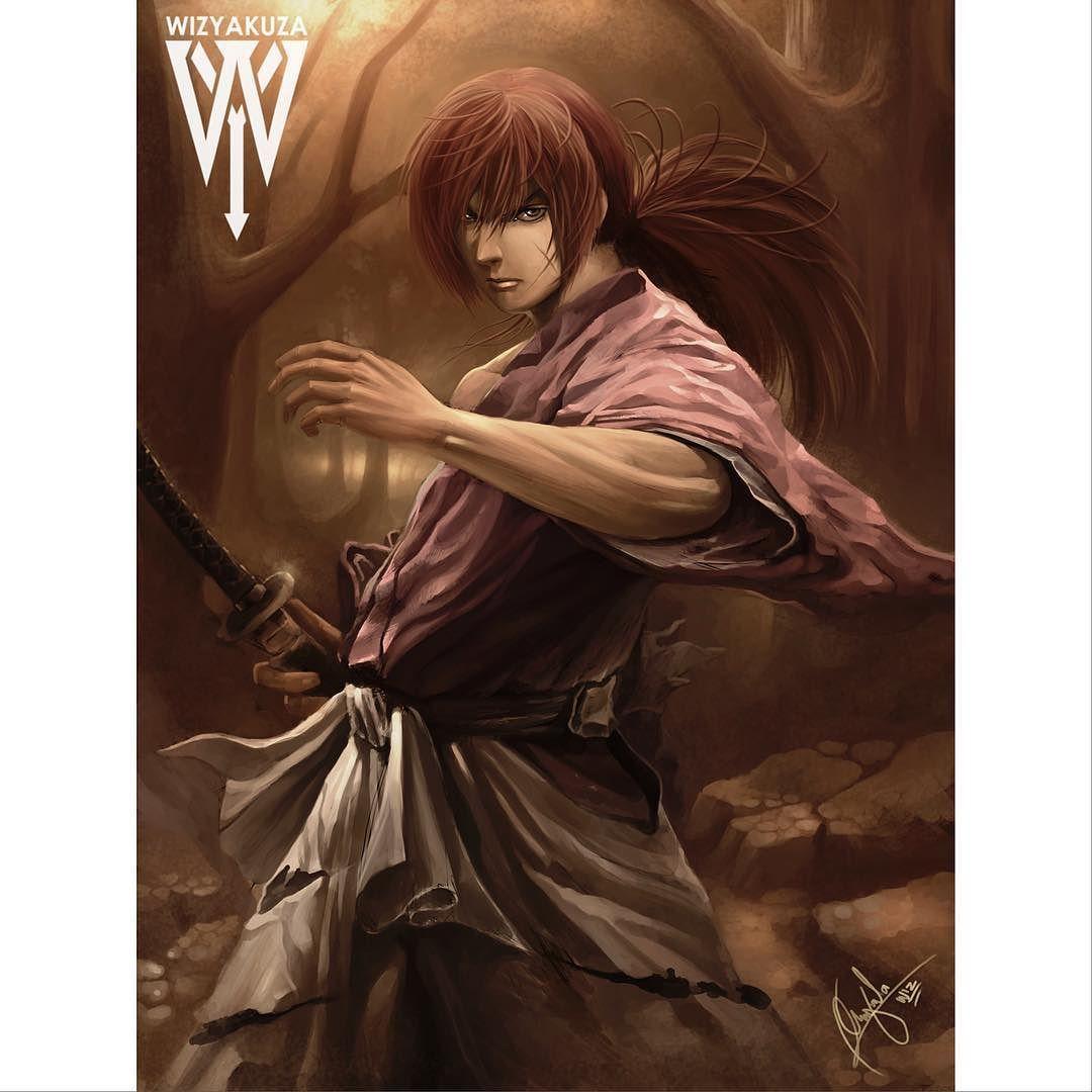 Himura Kenshin Painting From Rurouni Kenshin (Battousai