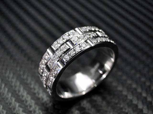14k White Gold Mens Diamond Wedding Band Engagement Ring Mens Diamond Wedding Bands Mens Diamond Wedding Diamond Wedding Bands