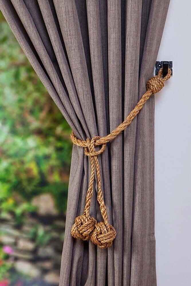 Top 50 Beautiful Floral Tassel Beaded Curtain Tie Back Ideas