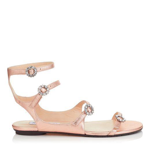 0713859fc73b Jimmy Choo NAIA FLAT Strappy Sandals