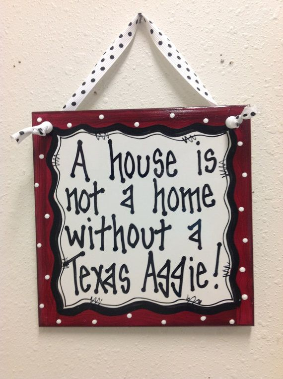 Texas Aggie Wall Decor Ceramic Tile Hand Painted By Twopinkdots 12 00 Texas Aggies Aggies Texas Signs