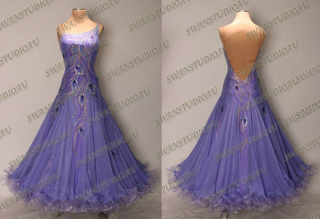 New Ready to Wear Ultra Violet Ballroom Dance Dress Size US 6 8 ...