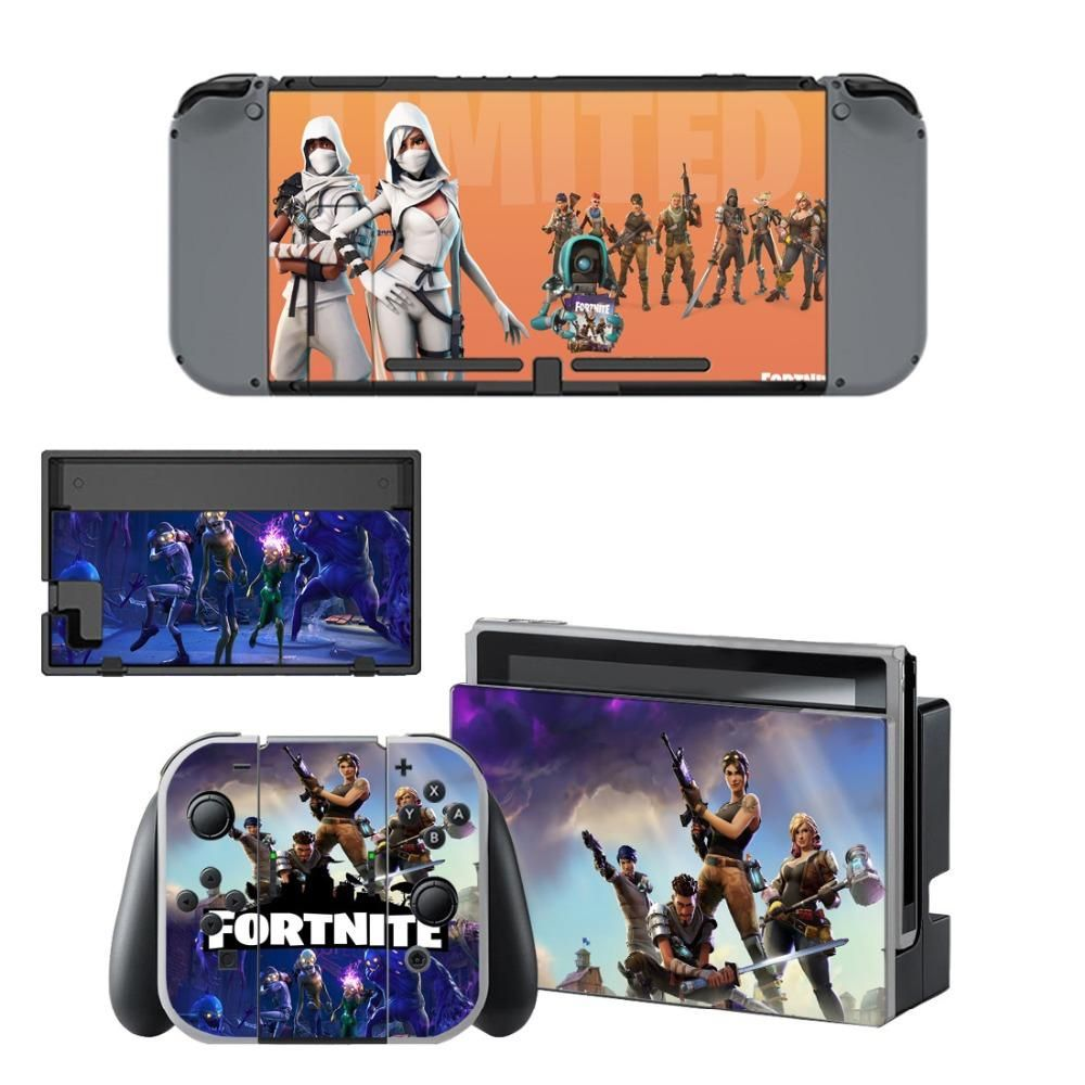 Fortnite Skin Sticker Wrap Set For Nintendo Switch Console