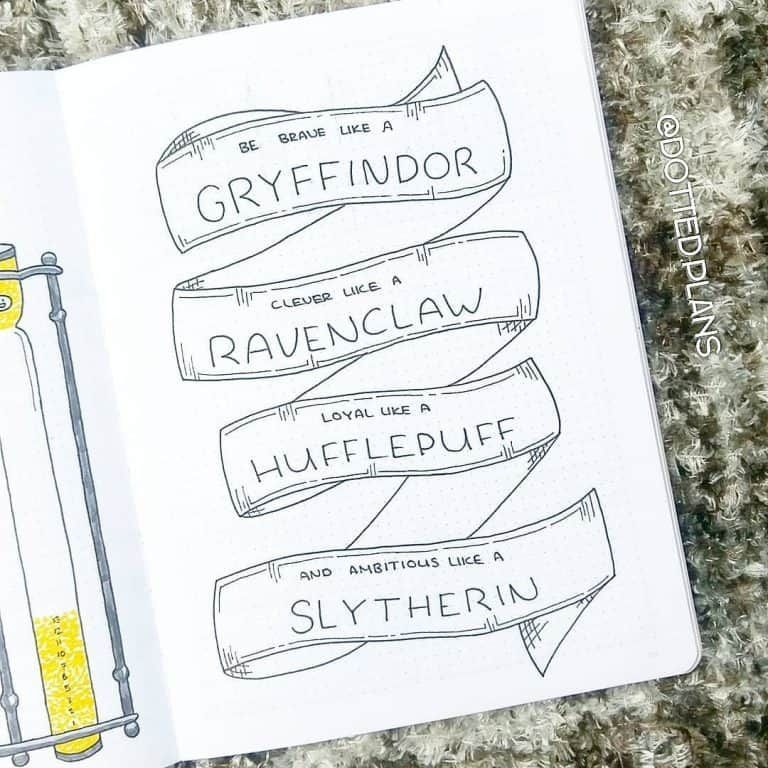 Magical Journal Potter Bullet Layout Harry Ideas Partpart 2 80 Magical Harry Potte Harry Potter Journal Harry Potter Zeichen Bullet Journal Deckblatt
