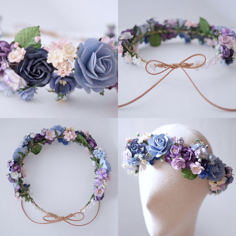Paper Flower Diy Bridal Flower Crown Circle Wild 20 Cm Etsy Diy Flower Crown Bridal Flower Crown Flower Crown