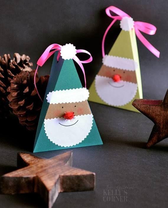 Caixa de presente em forma de triangulo Caixa De Presente De Natal c0f3169dceeea