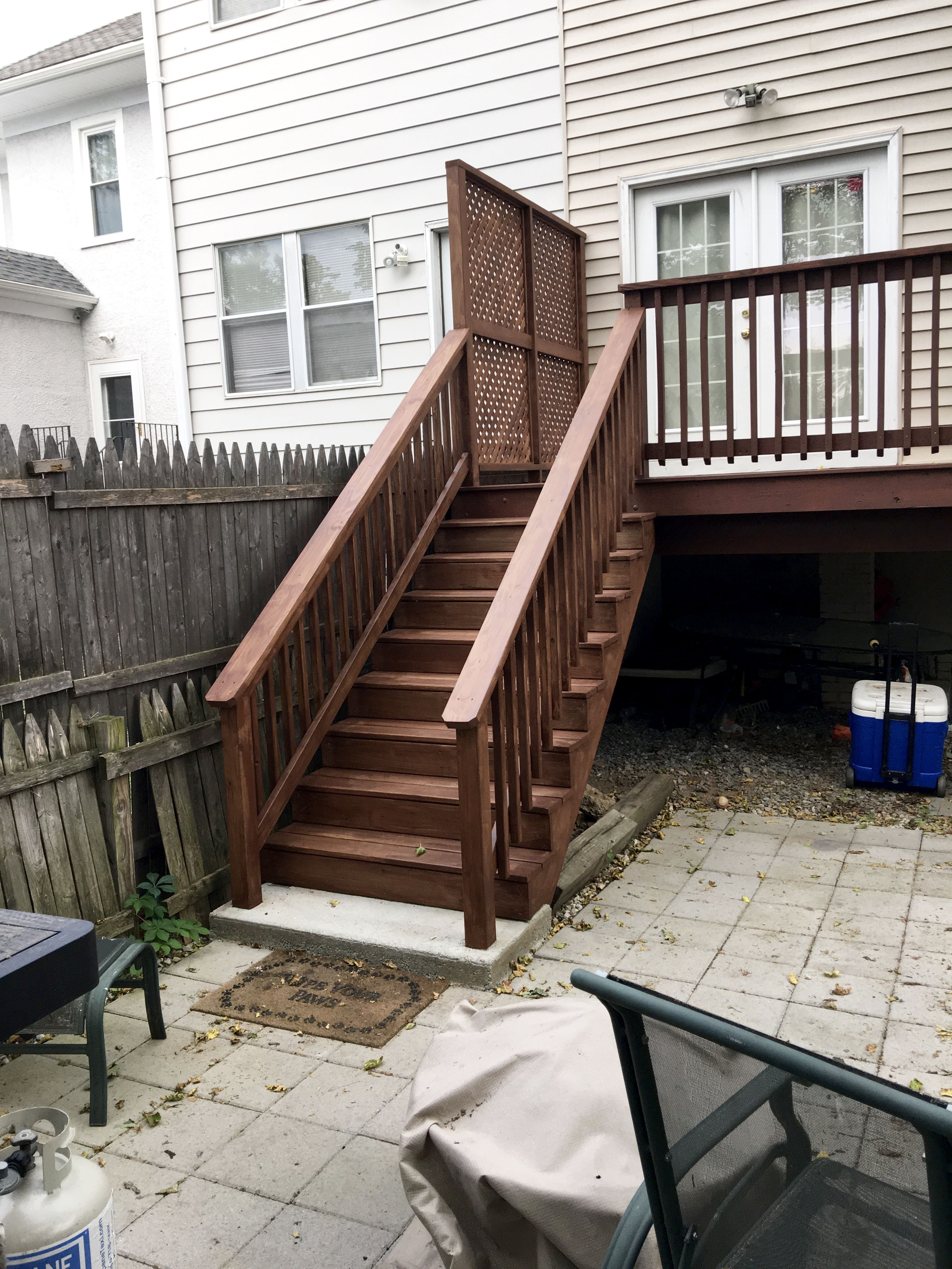 Exceptionnel New Stairs, Railing And A Privacy Screen Were The Perfect Update To This  Backyard Space. Replacing The Deck Stairs | Eclectically Grey