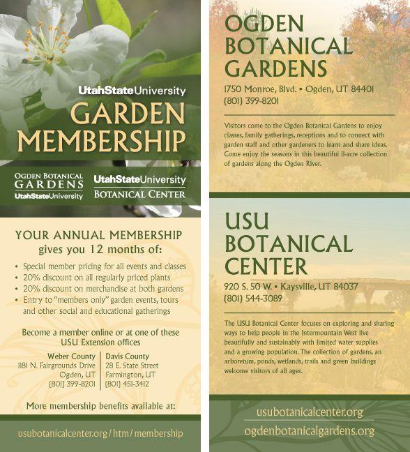 Garden Membership Rack Card