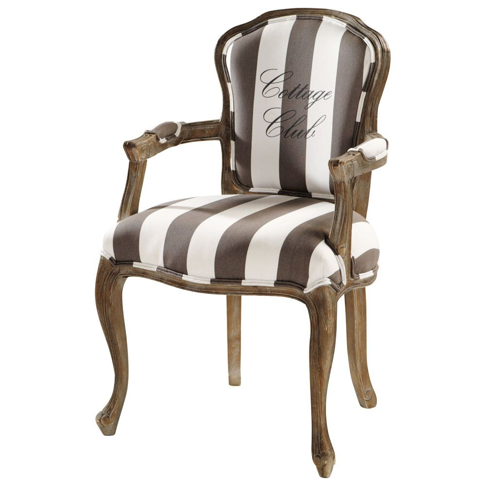 Fauteuil Cabriolet Maison Du Monde Sitzgelegenheiten En 2019 Striped Chairs Reupholster Furniture