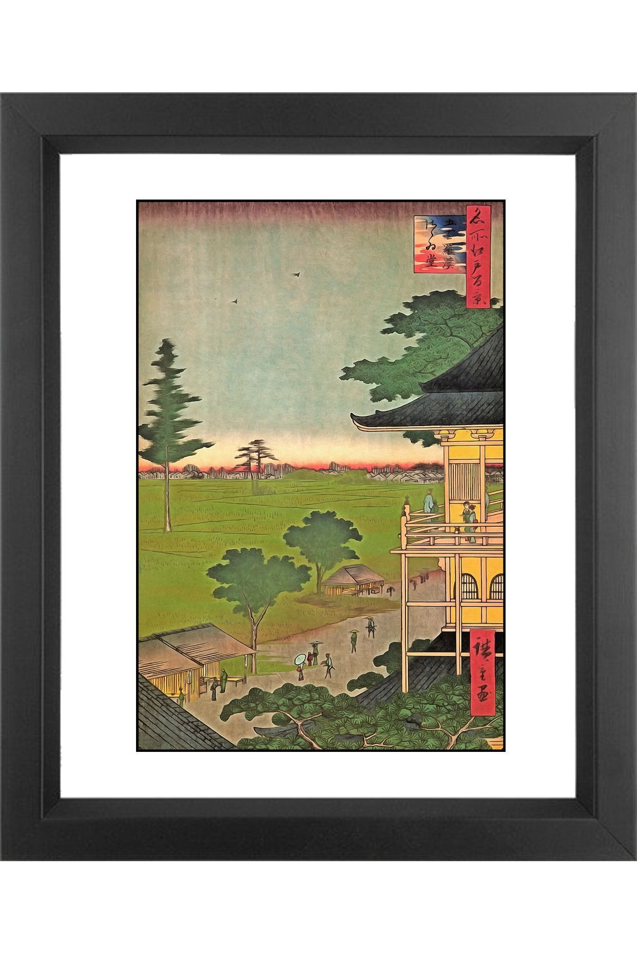 Japanese Art Hiroshige Collection By Wall Art Prints Society6 Japanese Art Japanese Artwork Art
