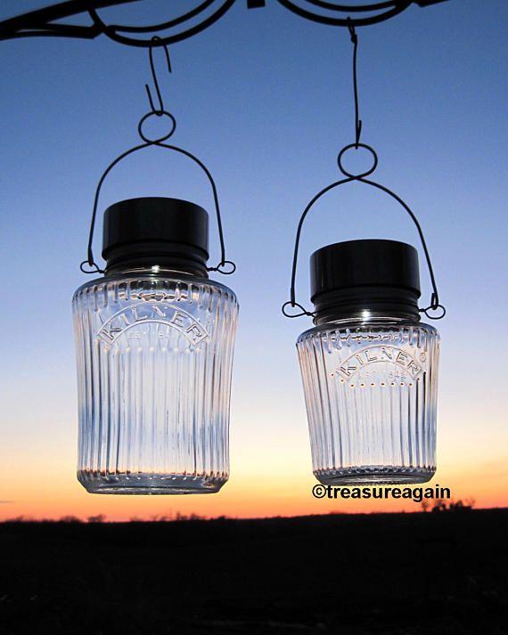 Solar Kilner Jars Mason Jar Decor Outdoor Gardening Solar Mason Jar Solar Lights Kilner Jars Mason Jars
