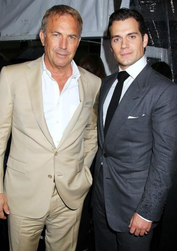 Kevin Costner and Henry Cavill at the NY Superman Premiere ~ June 10, 2013