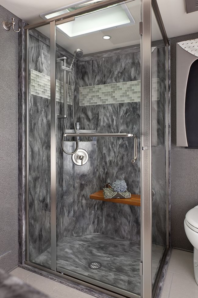 Decorative Tile Inserts Entrancing Polished Solid Surface Shower Walls With Decorative Subway Tile Decorating Design