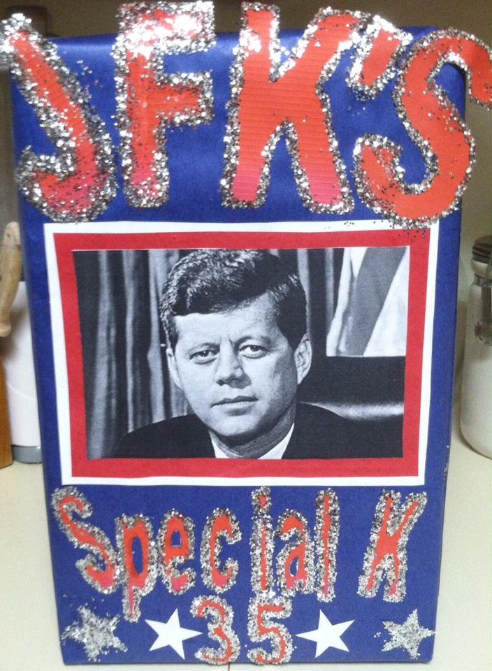 Presidential cereal box history project jfk 39 s special k for Cereal box project for school