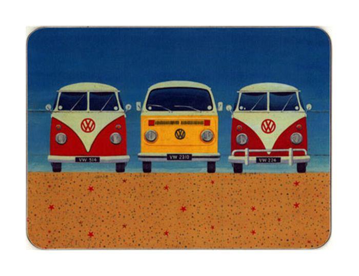 Castle Melamine Beach Huts Campervans Placemats Dalanihomeuk Vintage Vw Camper Camper Van Vintage Vw