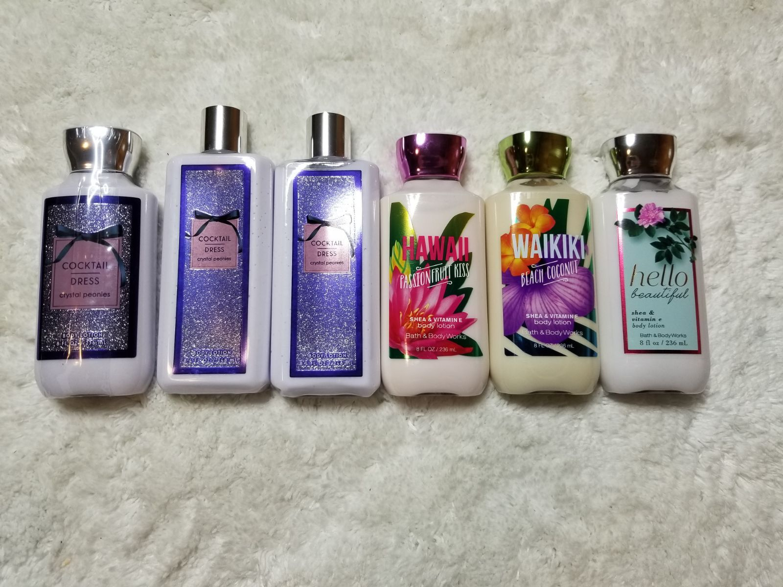 6 Bath And Bodyworks Lotions Take Everything For 50 Includes 3 Cocktail Dress 1 Hawaii Passionfruit Kis Bath And Body Works Bath And Bodyworks Bath And Body [ 1200 x 1600 Pixel ]