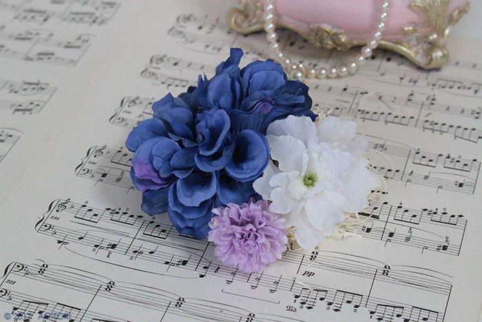 ピアノ発表会 コンクールで映える上品なヘアアクセサリー 4 016 ディープブルー 返品 交換不可 ヘアアクセサリー アクセサリー 髪飾り